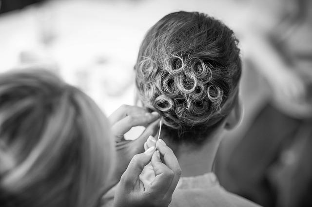 chignon-cheveux courts